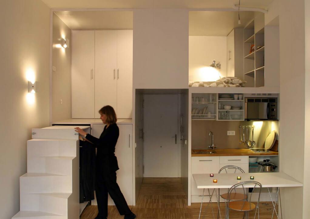 Самая маленькая квартира в мире. Мадрид - 28м. фото http://www.beriotbernardini.net/