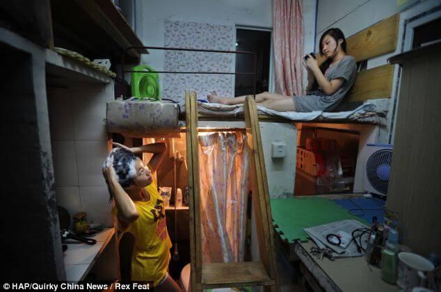 Самая маленькая квартира в мире. Китай. Средняя площадь мини квартир - 4.5м.