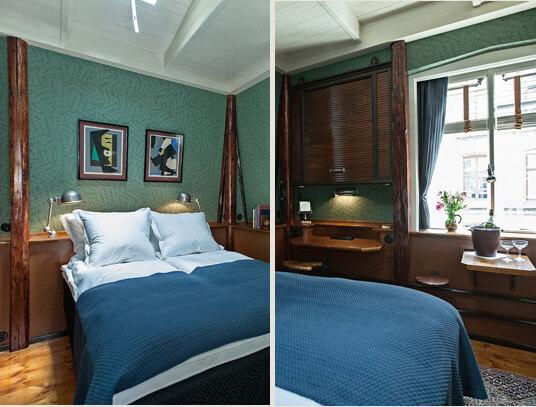 """Самый маленький отель в мире - Hotel Central (""""отель Центральный"""") в Копенгагене."""
