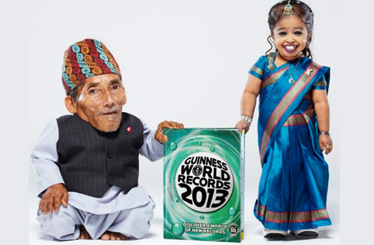 Самые маленькие мужчина и женщина в мире.
