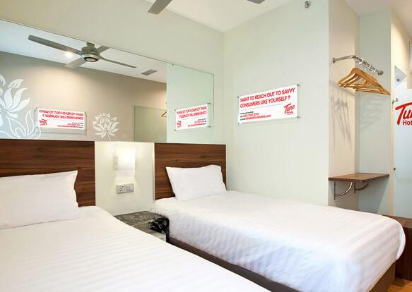 Самые маленькие номера в отелях мира. Сеть отелей «Tune Hotels».
