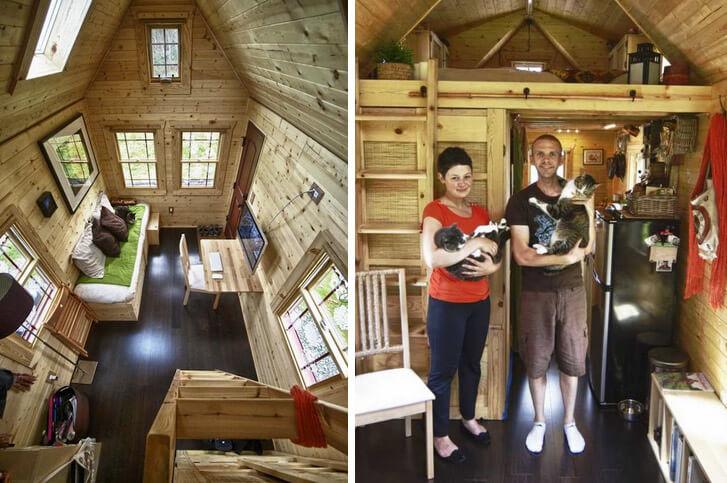 Самые маленькие в мире дома. Маленький дом на колесах в 13 кв.м., США, Снохомиш.