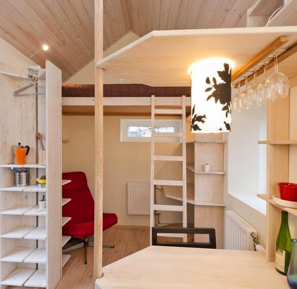 Самые маленькие в мире дома. Однокомнатный домик для студентов в 12 кв.м., Швеция, Лунд.