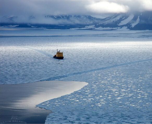 Самый маленький океан на земле. Северный Ледовитый океан. Карта.