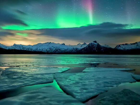 Самый маленький океан на земле. Северный Ледовитый океан. Северное сияние.