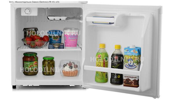Самые маленькие холодильники в мире. ТОП-10. Daewoo Electronics FR 051 A R