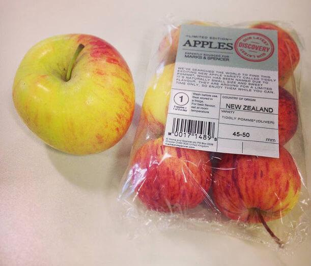 Самое маленькое яблоко в мире. Tiddly Pomme.