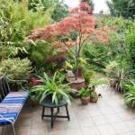 Дизайн маленького сада. Оформление зоны отдыха в саду.