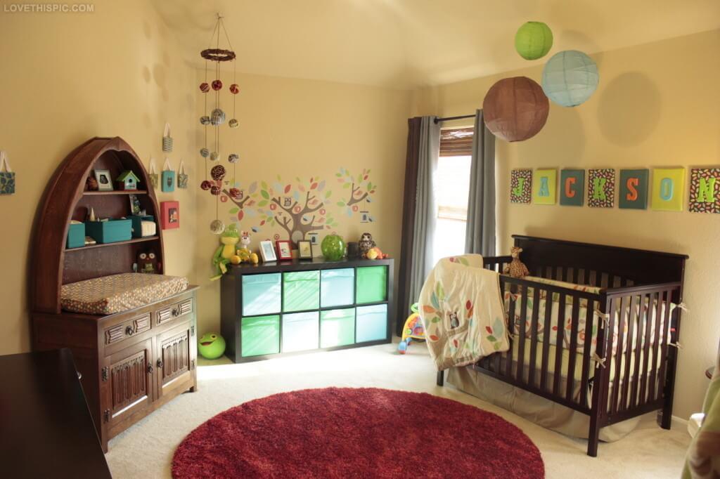 Маленькая детская комната. Идеи дизайна. Детская комната с совами для мальчика.