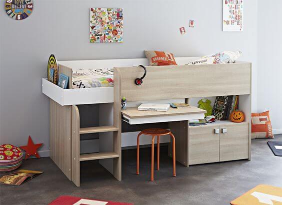Маленькая детская комната. Идеи дизайна. Компактная мебель для детской.