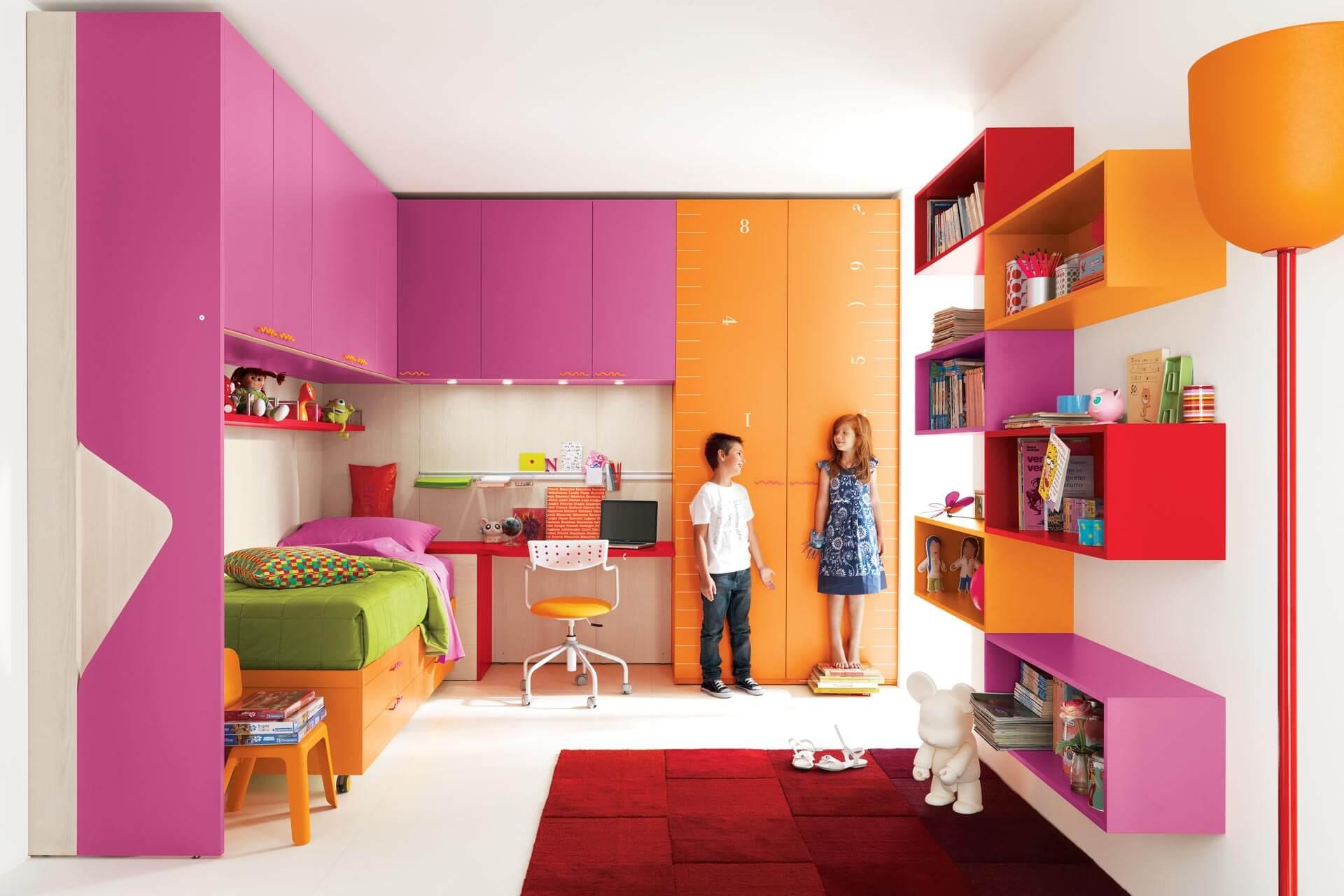 Хранение вещей в детской комнате