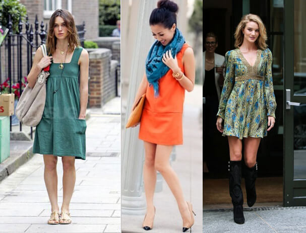 Dresses and tunics for short-legged ones