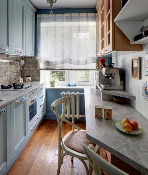 Кухня в хрущевке. 5.2 метра. Дизайн маленькой кухни. Дизайнер-декоратор Валентина Савескул