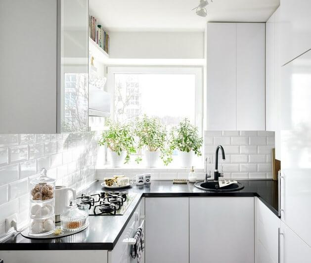 Маленькая кухня. Дизайн, ремонт и правила увеличения пространства.