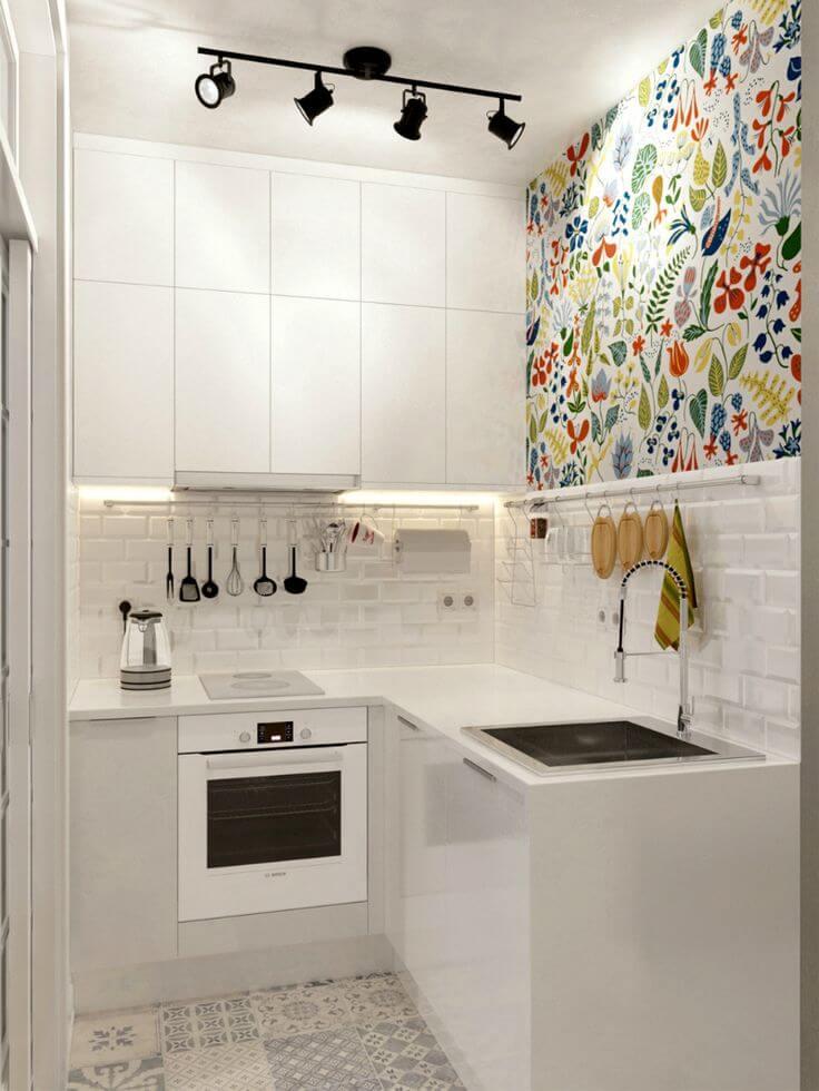 Дизайн, интерьер и отделка маленьких и самых маленьких квартир. Кухня в маленькой квартире.