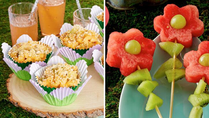 Маленькие праздничные закуски для детей. Как украсить и приготовить.