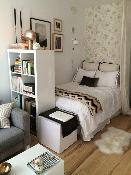 Дизайн, интерьер и отделка маленьких и самых маленьких квартир. Спальня.