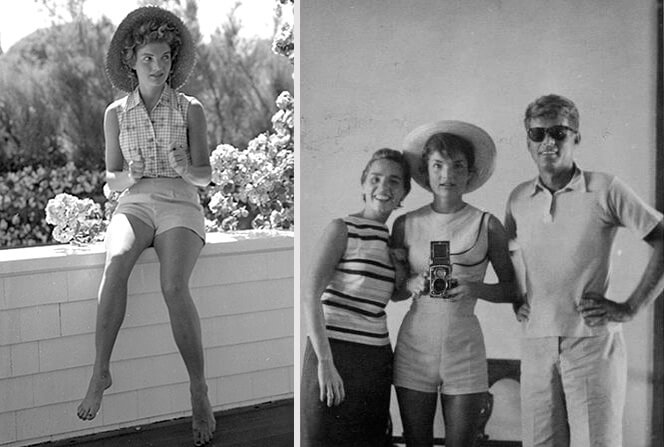 Жаклин Кеннеди в шортах