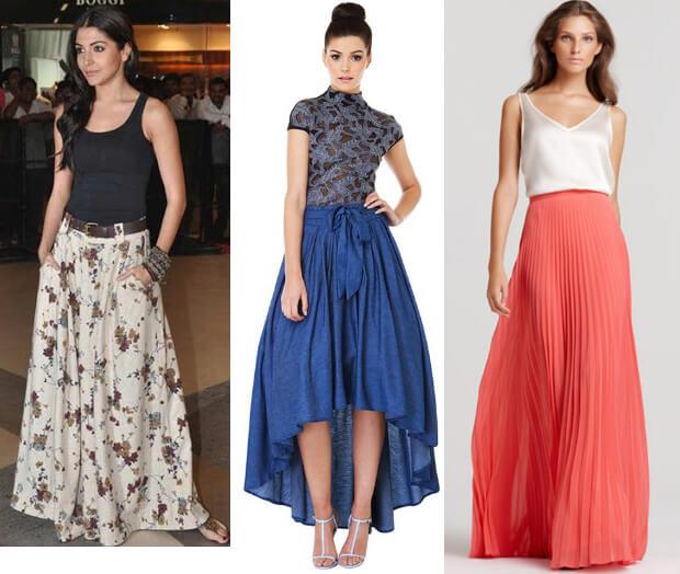 Модные длинные юбки. Кому подходят и с чем носить.Юбки макси