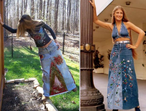 Модные длинные юбки. Кому подходят и с чем носить. Джинсовая юбка макси.