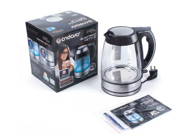 ENDEVER KR-320G. лучшие стеклянные чайники