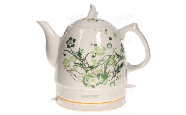 Vigor HX-2096. ТОП-10 лучших керамических чайников 2016