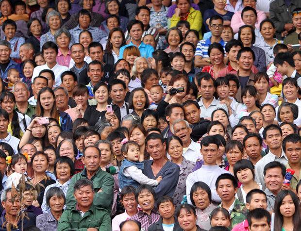 Китай. Самые большие по численности населения страны. Топ -10. 2016 год.