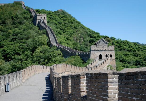 Великая китайская стена. 7 современных чудес света.