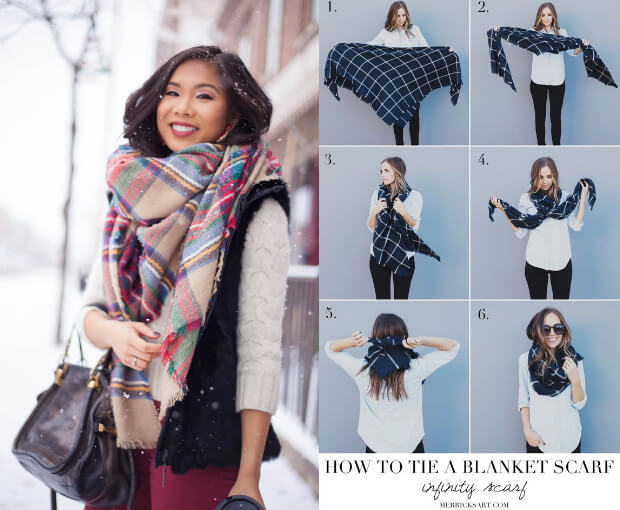 Модные шарфы осень-зима 2016 2017. Как завязывать.
