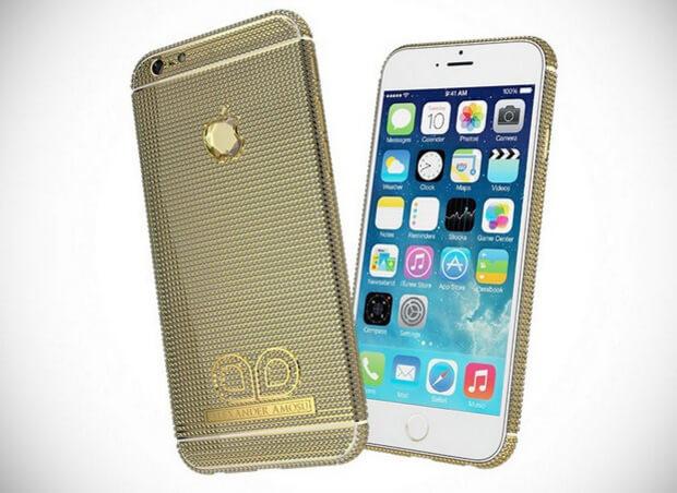 Бриллиантовый Amosu Call of Diamond iPhone 6. самый дорогой смартфон в мире
