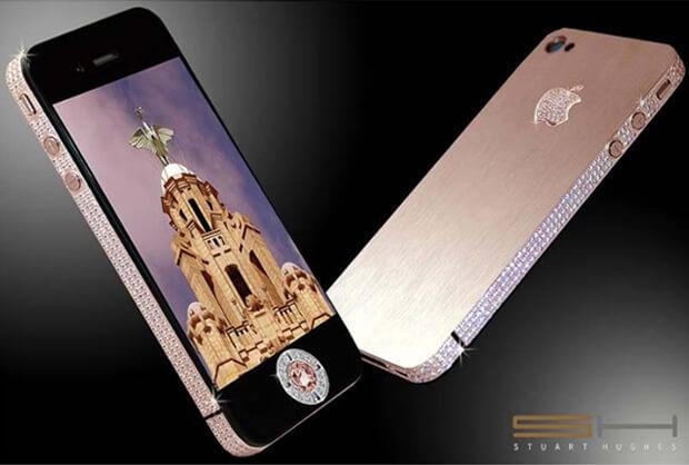 Diamond iPhone 4 32GB Розовый, самые дорогие телефоны