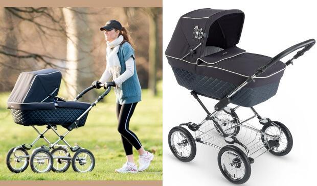 Кейт Мидлтон катает выгуливает сына в коляске Sleepover Elegance. Коляски, знаменитости.