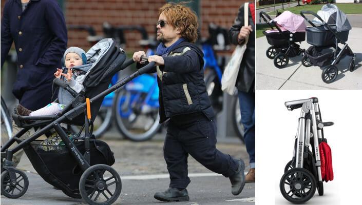UPPAbaby Vista 2 в 1. Коляски и знаменитости. Питер Динклейдж на прогулке с сыном. Лучшие коляски для новорожденных.