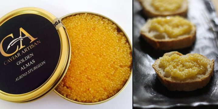 Самая дорогая в мире икра - алмазная (Almas Caviar)