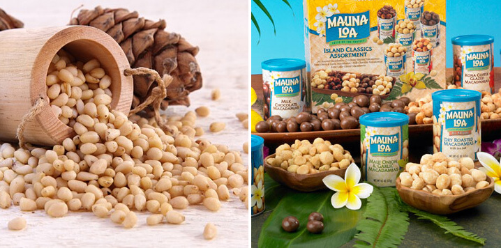 Кедровые орехи и орехи Макадамия. Самые дорогие продукты.