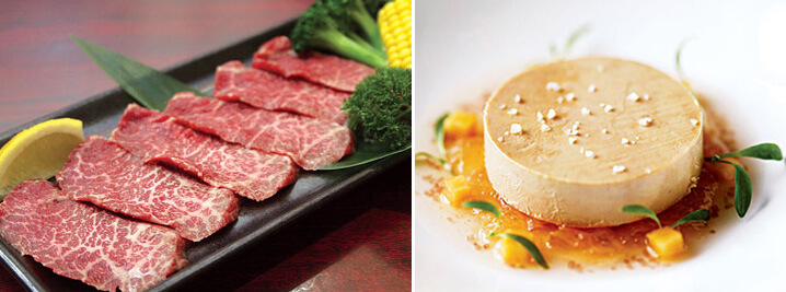 Самое дорогое мясо - мраморное мясо и Фуа-гра.