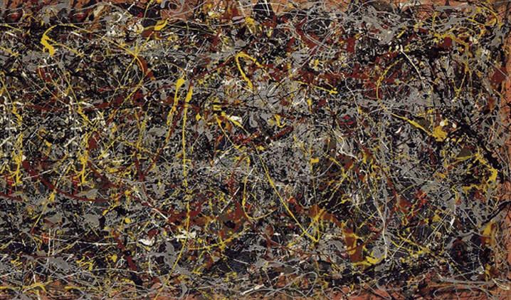 $140 млн. Джексон Поллок «Номер 5», 1948. Самые дорогие картины 2016 -2017.