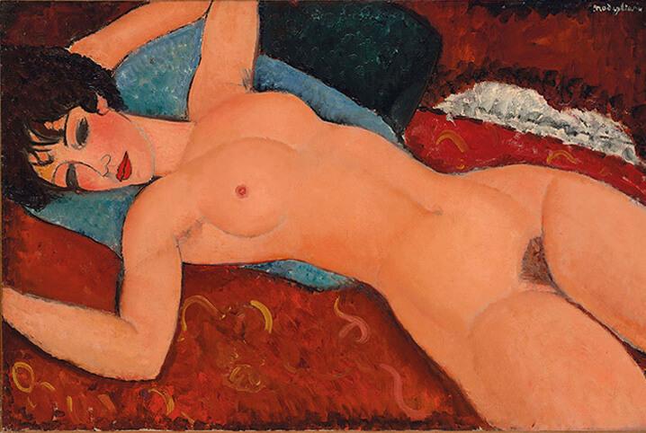 $170.4 млн. Амедео Модильяни «Лежащая обнаженная», 1917-1918. Самые дорогие картины.