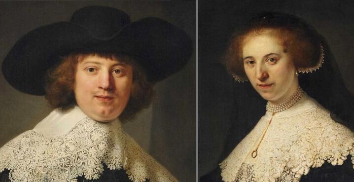 $180 млн. Рембрандт ван Рейн «Портреты Мартена Сольманса и Опьен Коппит», 1634. Самые дорогие картины.