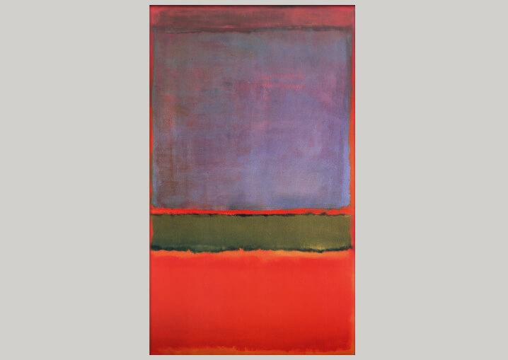 $186 млн. Марк Ротко «№ 6 (Фиолетовое, зелёное и красное)», 1951. Самые дорогие картины.
