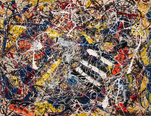 Джексон Поллок «Номер 17А», 1948. Самые дорогие картины.