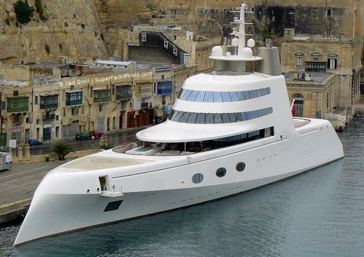Superyacht A («Мегаяхта А» или просто «А»). 10 самых дорогих яхт в мире.