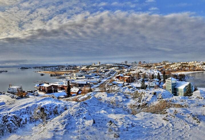 Йеллоунайф в Канаде. самые холодные города мира.