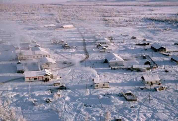 Оймякон – самый холодный город, Россия