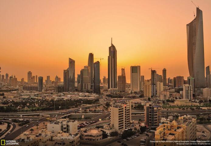 Город Эль-Кувейт, Кувейт. Самые жаркие города мира.