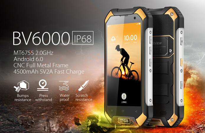 Blackview BV6000. Лучшие защищенные смартфоны.