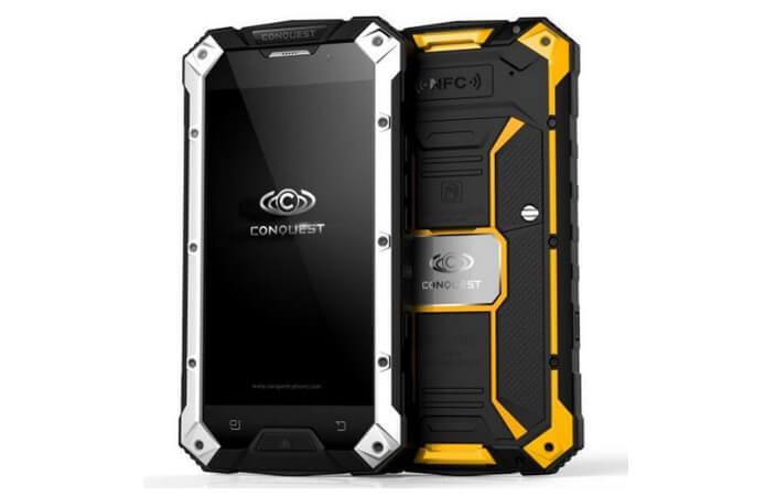 Conquest S6 OCTA. лучшие защищенные смартфоны.