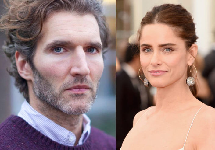 David Benioff (46) and his wife, actress Amanda Peet (45). Famous Jews. Actors and other celebrities.