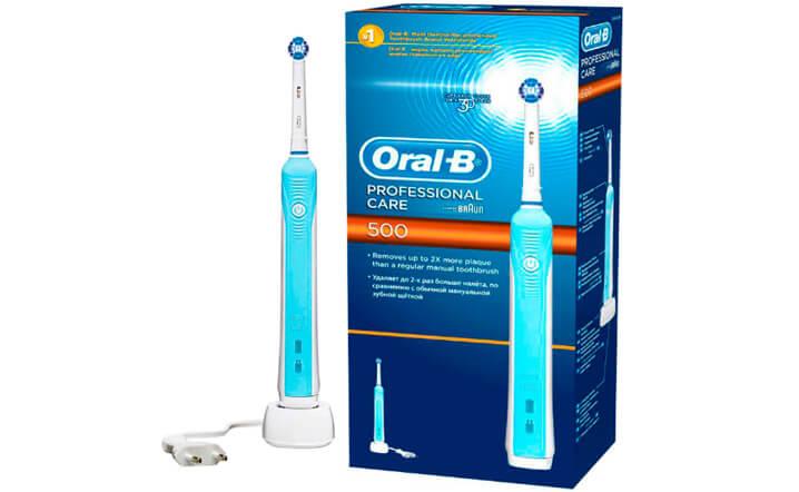 Oral-B Professional Care 500. Лучшая электрическая зубная щетка 2017.