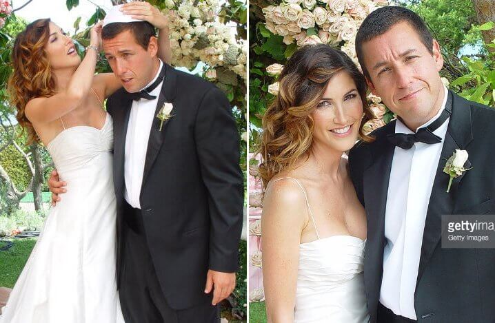 Adam Sandler and Jackie Titown. Famous Jews. Actors and other celebrities.